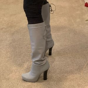 BCBG leather grey boots